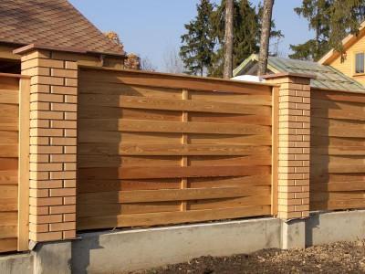 Trofimova.  Красивые деревянные заборы для дачи и загородного дома: как построить...